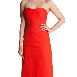 TED BAKER LONDON  Dress Strapless ALODIA Midi